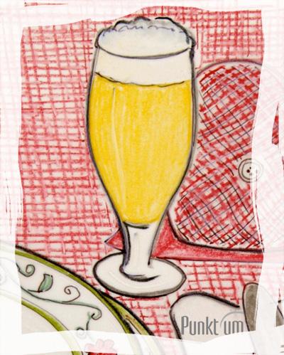 zur Belohnung für den glücklich gemeisterten Arbeitstag ein kühles Bier