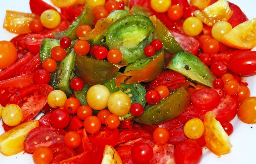 Sonnengereifte Tomaten schmecken haben einen intensiven Geschmack