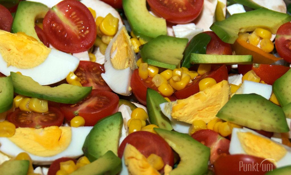Avocado, Pilze und Eier